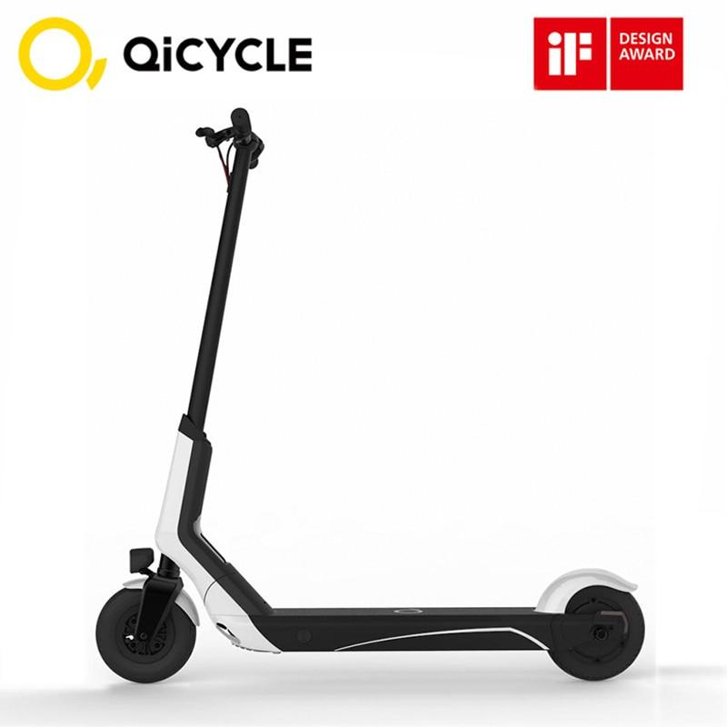 Xiaomi QiCYCLE EUNI ES808 vélo électrique 8 pouces pneu 5.2Ah pliant Scooter électrique Bluetooth BMS double système de freinage 250 W blanc