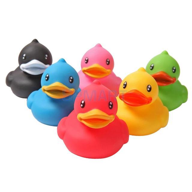 6pcs Rubber Ducks Sqeeze sounding Dabbling Toy Fun Kids Bath Toy ...