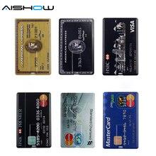 New Arrival 100% Capacity credit card model 4GB 8GB 16GB 32GB USB 2.0 Memory Stick Flash Pen Drive pen drive pendrive