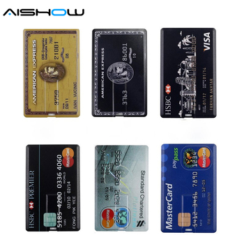 New Arrival 100% Capacity credit card model 4GB 8GB 16GB 32GB USB 2.0 Memory Stick Flash Pen Drive pen drive pendrive