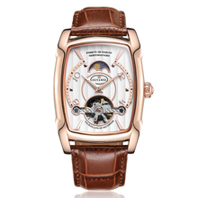 цены OUYAWEI Men Watches Automatic Mechanical Watch Luxury Rose Gold Wristwatch Leather Retro Casual Business Relojes Hombre 2019