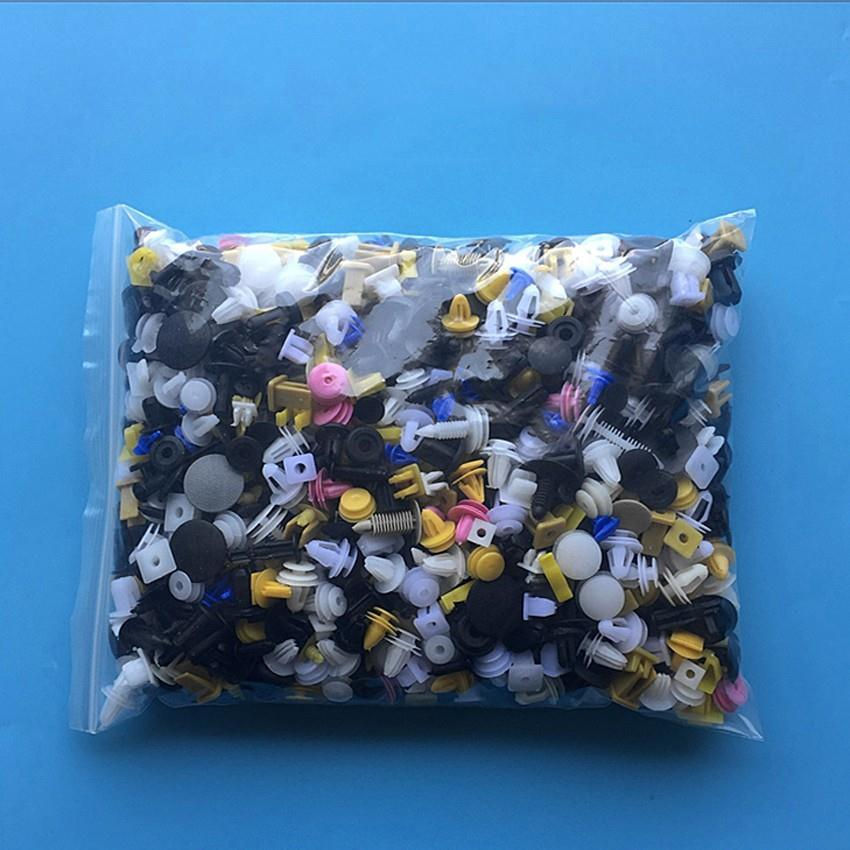 цена на 200Pcs Mixed auto Car Bumper Clips Retainer Fastener fastener Vehicle Rivet Door Panel Fender Liner universal for all car