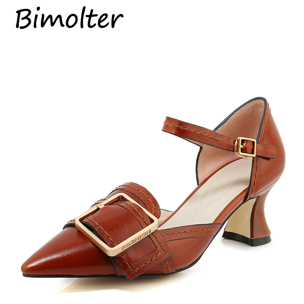 Bimolter Fashion Party Prom Pumps Women Thin Heels Pointed Toe Sexy Shining Golden Silver Luxury Cow Leather Shoes NB092