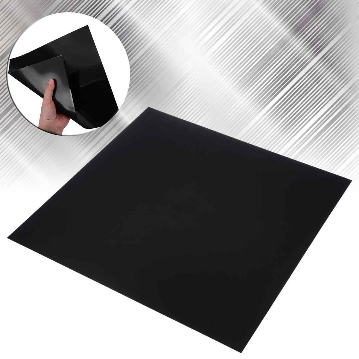 New Industry ABS Plastic Sheet 300*300*0.5mm Black DIY Plastic Flat Board Flexible Smooth Back Sheet For Car Styling Audio