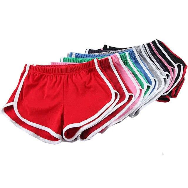 Americano Color Caramelo Retro Plus Size Sexy Stretch Pantalones Cortos Para Mujer 13 colores Causal Loose Beach Hotpants Envío Gratis