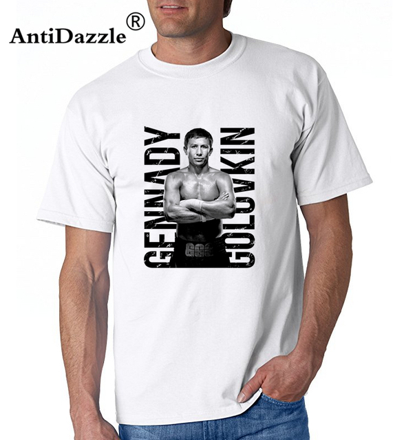 2d7c2596014557 Antidazzle Free Shipping 2016 summer hot GGG Gennady Golovkin T Shirts Men  Cotton O Neck t shirt Short Sleeve Euro Size Mens