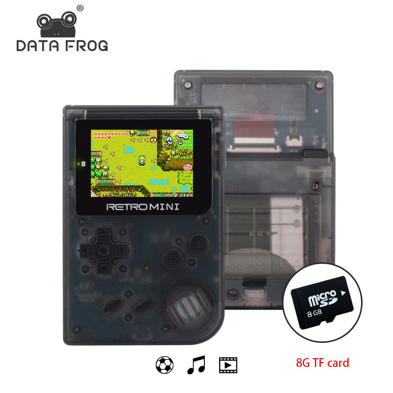 Data Frog Retro Game Console 32 Bit Portable Mini Handheld Game Players Built-in 940 For GBA Classic Games Best Gift For Kids