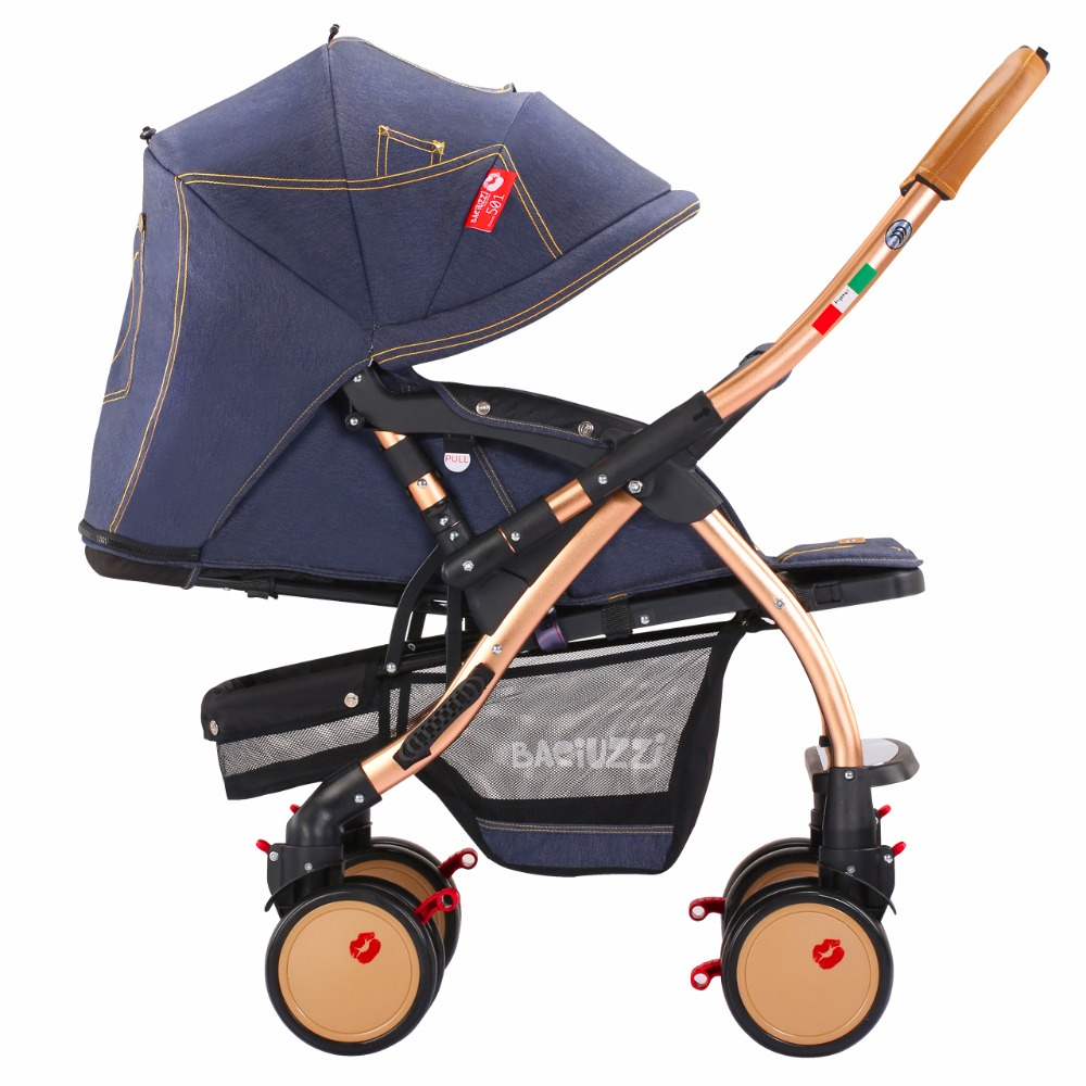 Baby Stroller With Certification EN 1888. CE. AS. GS, High-quality Pushchair , Bidirectional & Folding Jeans Child Car