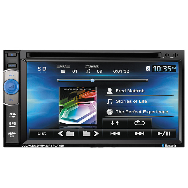 AUTO 6.2 In GPS Car Video Player DVD Touch Screen Bluetooth Stereo Radio Car MP5 Audio USB Auto Electronics In Dash JAN22