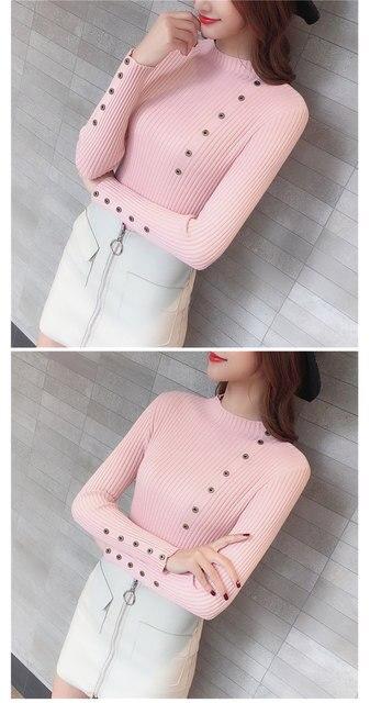 Women Sweater Turtleneck Sweaters Women Korean Fashion Woman Knitted Sweater Women Sweaters and Pullovers Winter Clothes Women 28