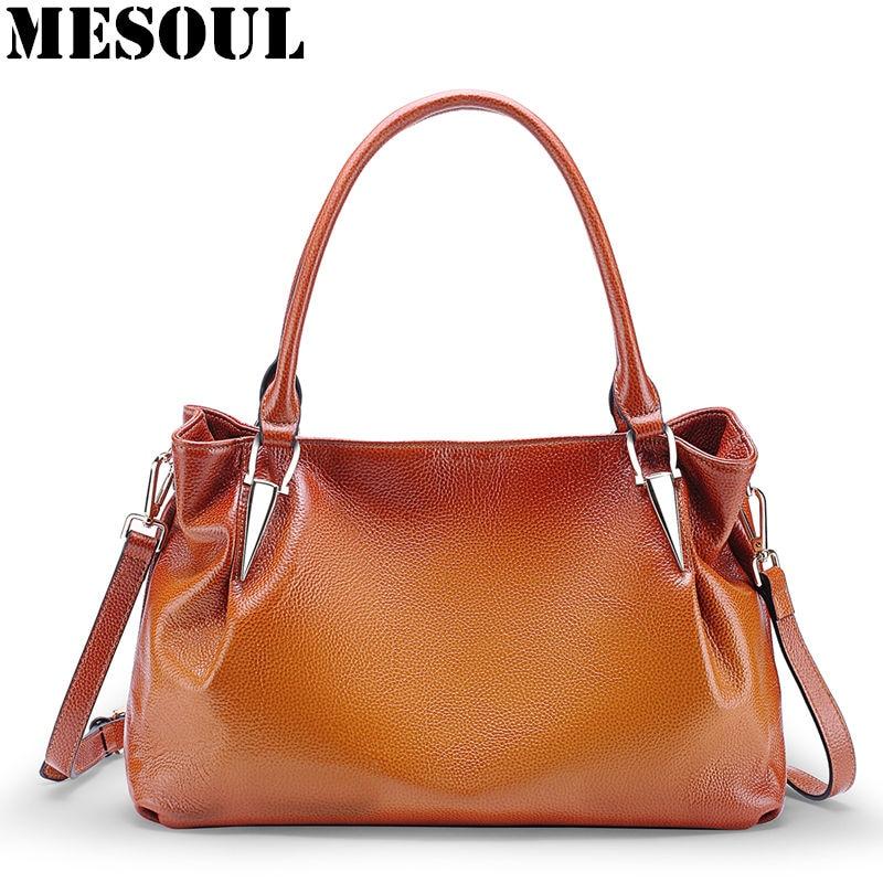 Women Handbags Luxury Designer 2018 New Female Genuine Leather Shoulder Bags Famous Brand Causal Totes Business Top-Handle Bags цены онлайн