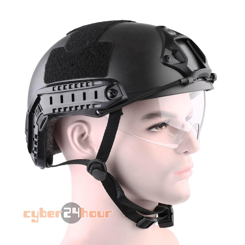 Военная Униформа Тактический Шестерни Airsoft Пейнтбол SWAT защитный быстро шлем с выпученными