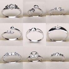 20 pçs/lote tamanho livre ajustável anel configurações descobertas montagens acessórios femininos feminino lady girls anel de dedo