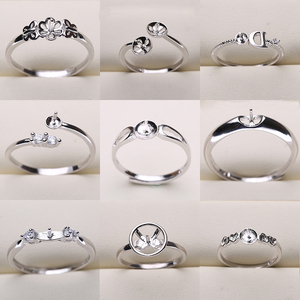 Image 1 - 20pcs/lot FREE SIZE ADJUSTABLE Ring Settings Findings Mountings Women Accessories Female Lady Girls Finger Ring
