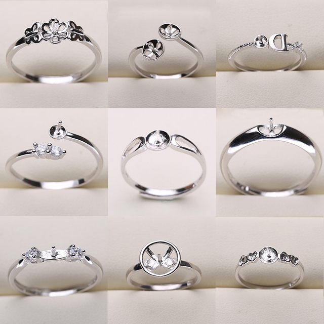 20pcs/lot FREE SIZE ADJUSTABLE Ring Settings Findings Mountings Women Accessories Female Lady Girls Finger Ring