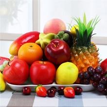 Искусственное яблоко, искусственные фрукты, украшение для дома, оранжевый орнамент, ремесло, еда, реквизит для фотосъемки дома