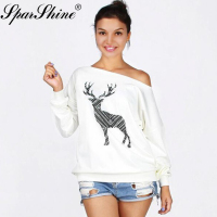 2017 Autumn Winter Women Sweaters And Pullovers Thick Warm Female Pull Christmas Sweater Women Jumpers Deer