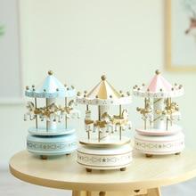 Фотография European Music Box Carousel Music Box Wooden Crafts Wedding Birthday Present Christmas Gifts Home Decoration