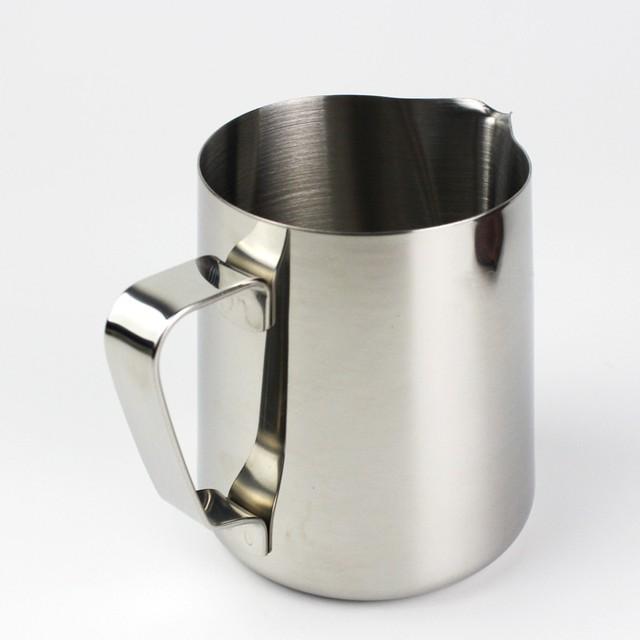 150 350 600 1000ml Coffee Jug Cup Mug Stainless Steel Pots Handle
