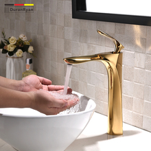 цены Golden hot and cold basin faucet one hole bathroom basin mixer water tap  DR3B47