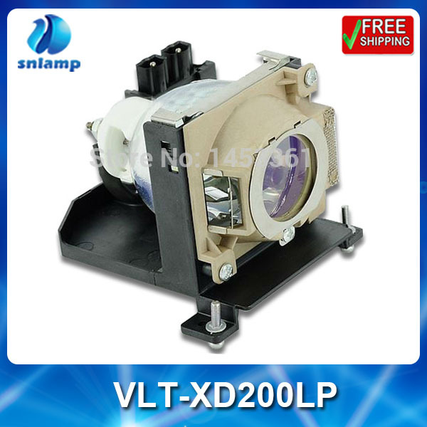 Compatible projector bulb lamp VLT-XD200LP with housing for SD200 SD200U XD200 XD200U SC200 SC200U compatible lamp with housing vlt hc5000lp for mitsubishi projector hc4900 hc5000 hc5500 hc6000 180days warrant