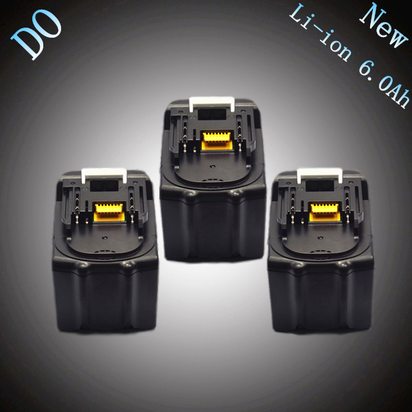 3PCS New Spare Li Ion 6000mAh Replacement Rechargeable Power Tool Battery for Makita 18V BL1830 BL1840 BL1860 LXT400 194230-4