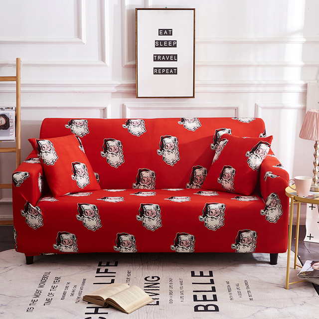 US $17.99 36% OFF Christmas Couch Cover Set Santa Claus Large Elastic Sofa  Furniture Set Washable Modern Christmas Tree Sofa Cover for Living Room-in  ...