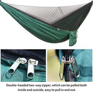 Image 4 - ポータブル屋外のキャンプハンモック蚊帳防水オーニングぶら下げテント睡眠ベッドスイングハンモック 1 2 人