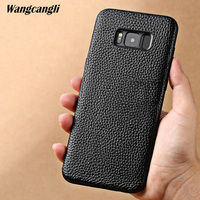 Leather lychee all inclusive mobile phone case for Samsung S8 case all inclusive mobile phone shatter resistant shell
