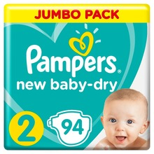 Подгузники Pampers New Baby-Dry 4–8 кг, размер 2, 94 шт.
