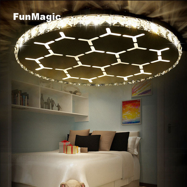 Eye Protection Children S Room Football Led Crystal Ceiling Light Lamp Remote Control Bedroom Lighting Fixture Restaurant Study