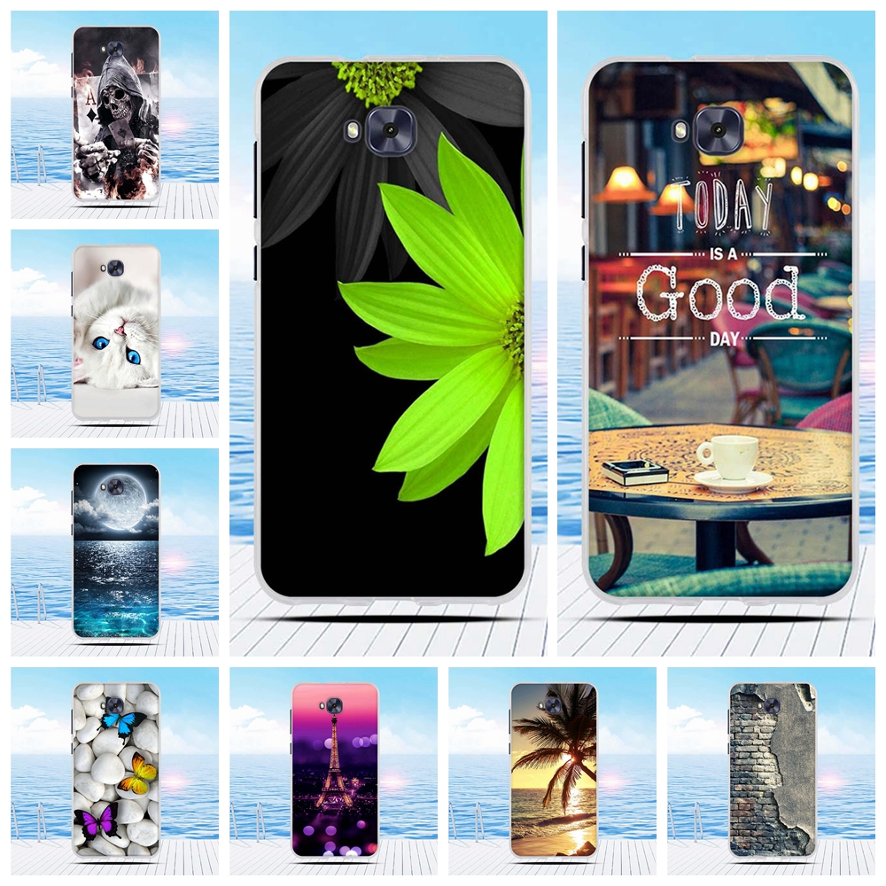Cartoon 3D Relief Printing Pattern Back Cover TPU Soft Silicone <font><b>Case</b></font> Coque Capa Funda For <font><b>Asus</b></font> <font><b>Zenfone</b></font> <font><b>4</b></font> <font><b>Selfie</b></font> <font><b>Case</b></font> ZD553KL image