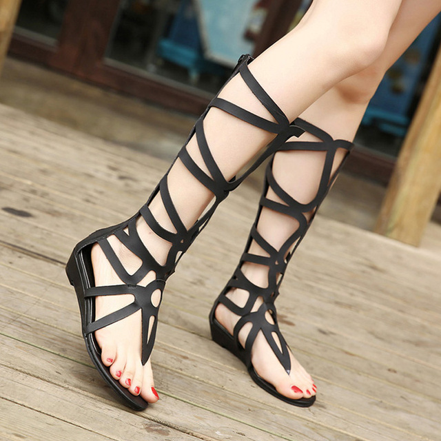 Summer Style Knee High Sandals Shoes Woman 2018 Fashion Women Boots Sandal Shoes Woman Sexy Summer Women Shoes Gladiator Sandals 4