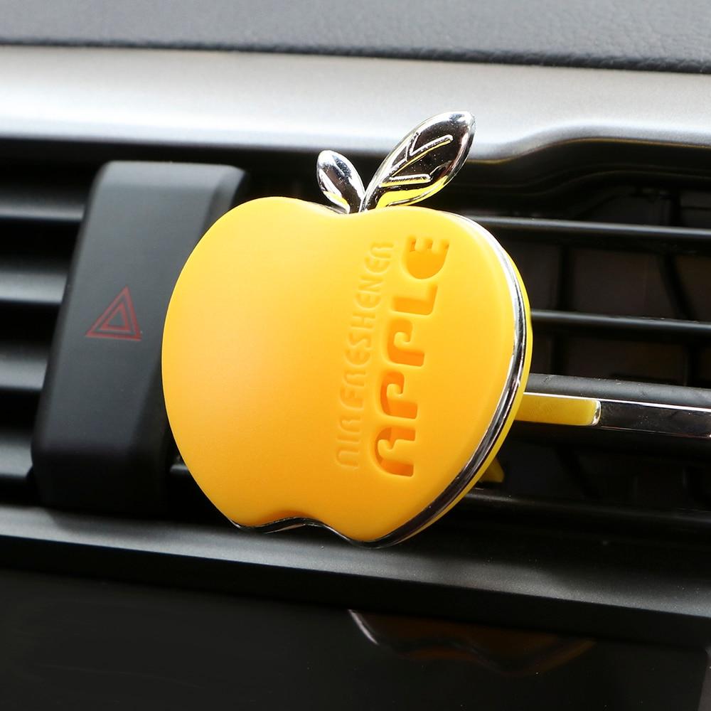 Автомобильный парфюм освежитель воздуха Apple Форма оригинальный аромат оранжевый лимон яблоко клубника Лаванда автомобильные аксессуары