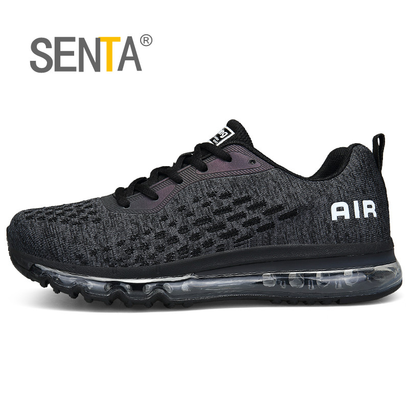 e5072dd2918a Air Cushion Running Shoes for Men Women Flywire Mesh Breathable Sneakers  Antiskid Damping Jogging Fitness Sport Big Size46