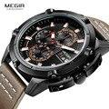 Мужские часы GIMSR Топ бренд класса люкс водонепроницаемые 24 часа дата Кварцевые часы мужские модные кожаные спортивные наручные часы Мужски...