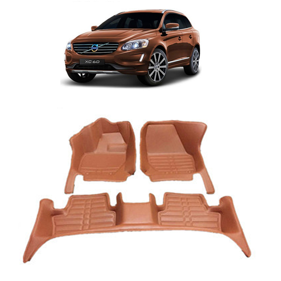 free shipping waterproof wearable fiber leather car floor mat for volvo xc60 2008 2009 2010 2011 2012 2013 2014 2015 2016 2017