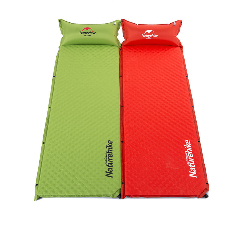 Naturehike Inflatable camping Mattress single Portable Outdoor Moistureproof Hiking Mat Camping Bed Tent Camping Mat hewolf 200 65 4cm high quality 4cm thickening single moistureproof comfortable camping outdoor mat with pillows can be spliced