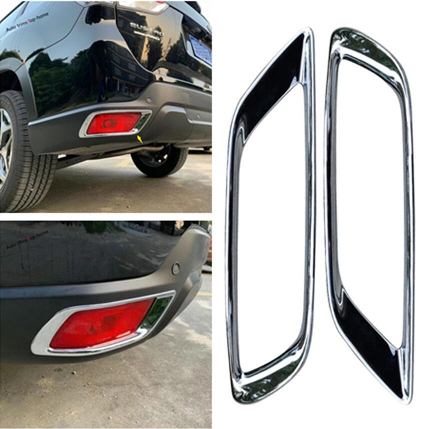 ABS Chrome Rear Tail Fog Light Lamp Cover Frame Trim For Honda Fit 2015-2017