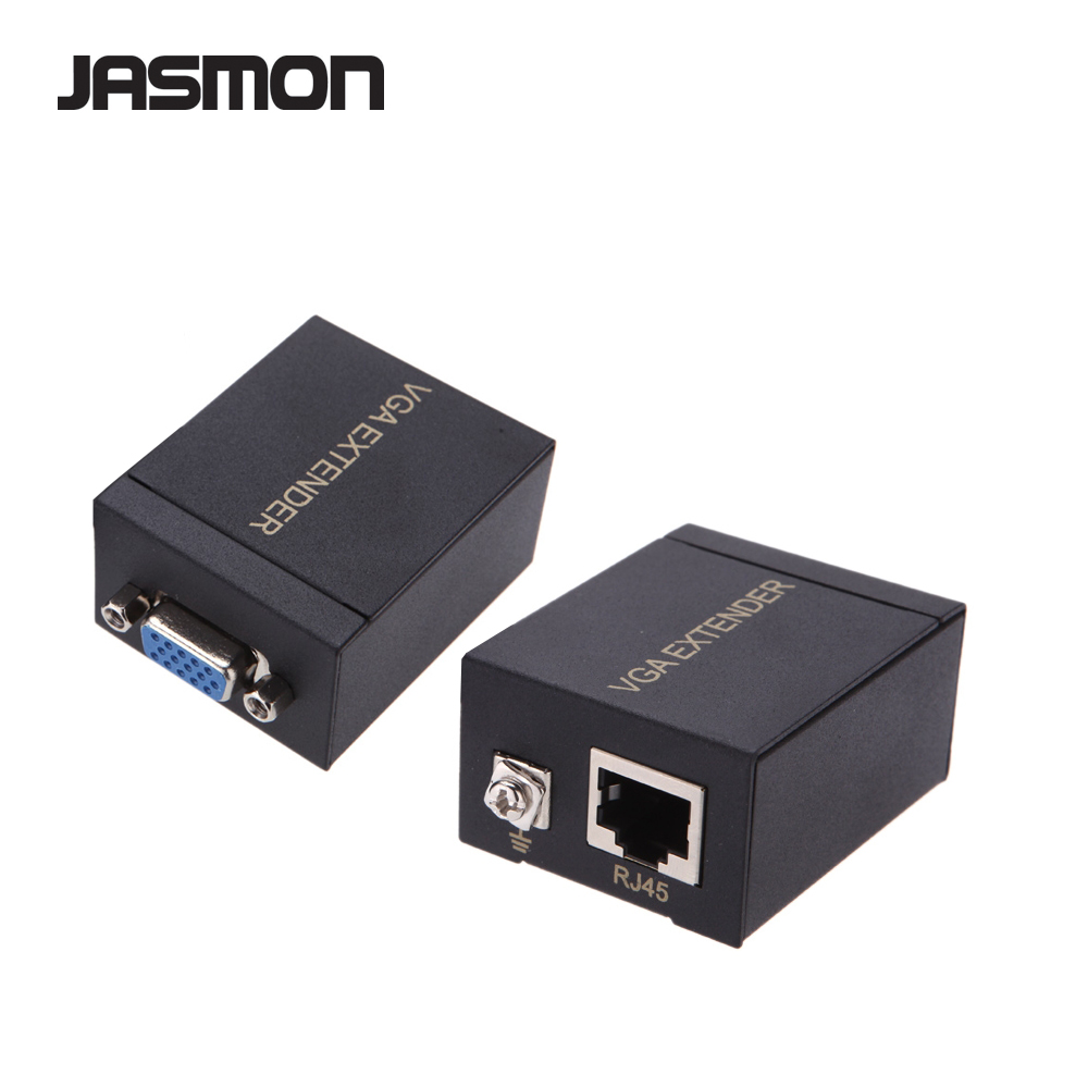 RJ45 To VGA Signal Extender Over Ethernet Transmitter and Receiver Adapter Set