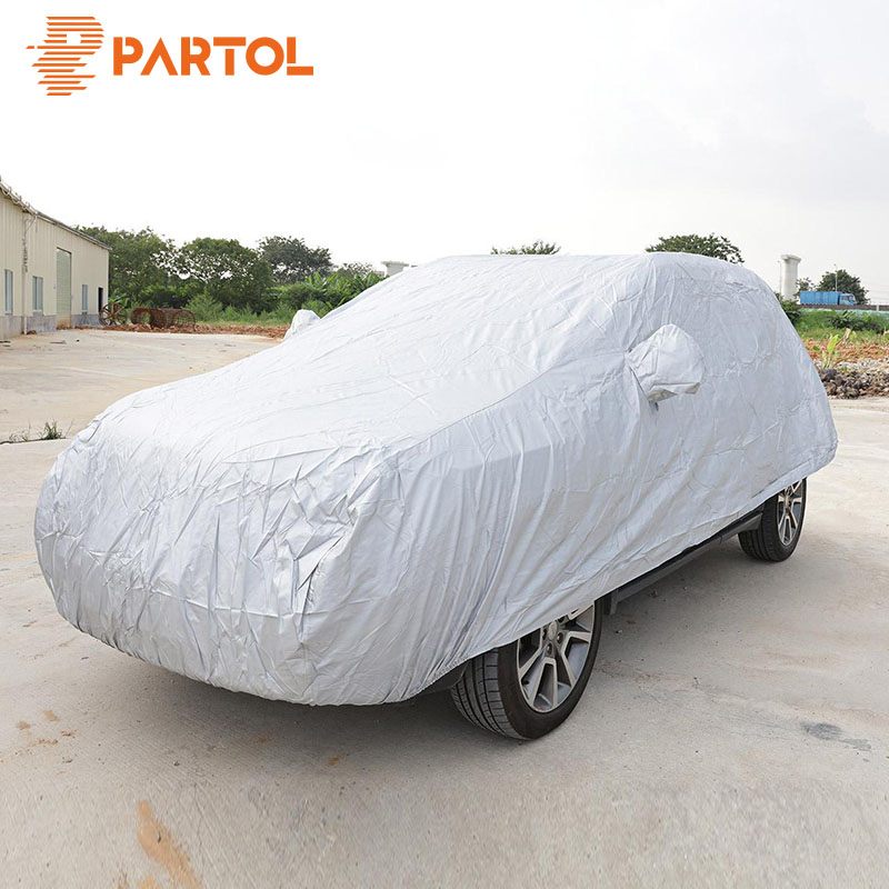 Partol Waterproof Car Covers Size S/M/L/XL Indoor Outdoor Full Car Cover Sun UV Snow Dust Rain Resistant Protection Car Styling
