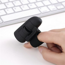 1pc black 2.4GHz USB Wireless Finger Rings Optical Mouse 1200Dpi For PC Laptop Desktop Wholesale Store