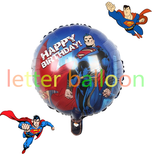 50pcs/lot 18inch Superman birthday balloons for children party ballons hero heli