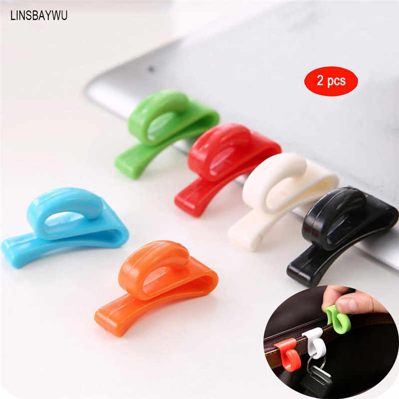 LINSBAYWU Hot Sell Anti Lost Key Bag Clips Inner Hooks Small Objects Storage Holder 2 PCS Drop shipping