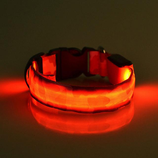 flashing light up dog collar