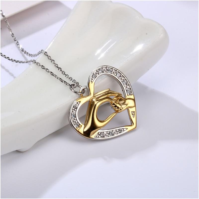 Shineland mama voli bebu u ruci 925 Sterling Silver Fashion AAA - Modni nakit - Foto 2