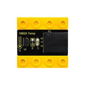 Image 3 - Kidsbits блоки кодирования 18B20 Модуль датчика температуры для Arduino паровой EDU (черный и экологически чистый)