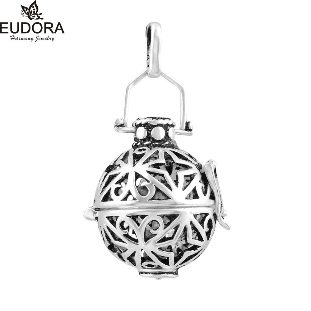 5PCS/Lot Harmony Bola Cage Silver Plated Fashion 18mm Floating Locket Cages Pendant for Chime Ball Pregnancy Women Gift