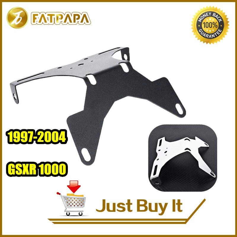 FATPAPA Free Shipping Motorcycle Parts CNC Aluminum Fender Eliminator For SUZUKI GSXR 1000 GSXR1000 97 98 99 00 01 02 03 04