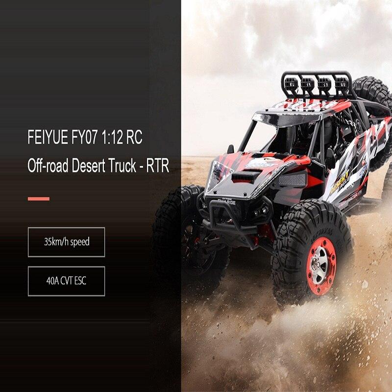 Venta caliente RC coche fuera de carretera desierto coche de Control remoto 1:12 RTR 2,4 GHz modelo de monstruo coche 4CH 4WD regalos de juguetes para vehículos con orugas de roca - 2